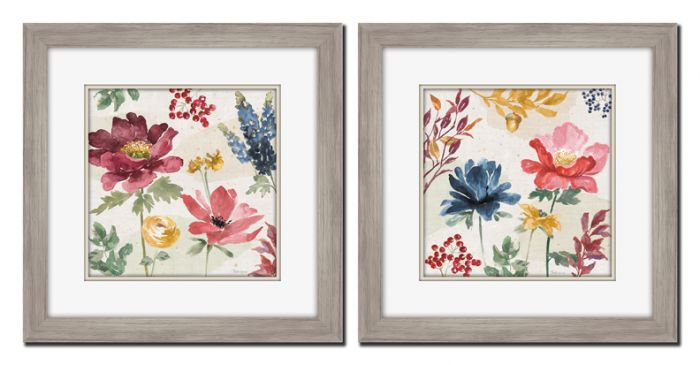Watercolor Fall I & II Set of 2