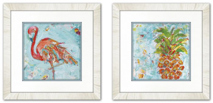 Flamingo I & II Set of 2