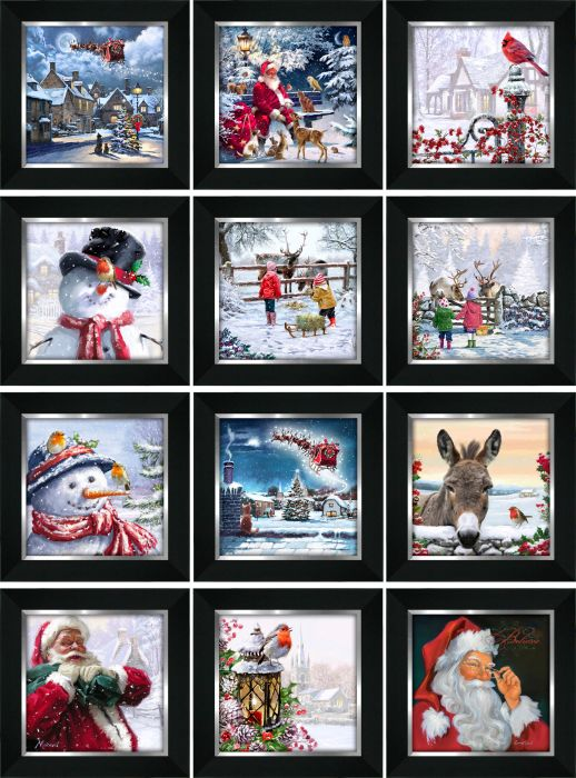 Framed Christmas Pictures 8x8 (12 Asst.)