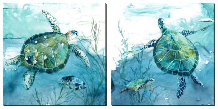 Sea Turtles Set of 2