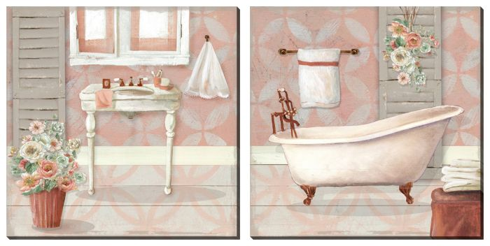 Pink Bath Set of 2