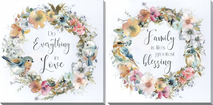 Family and Love Set of 2