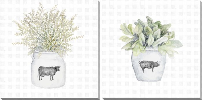 Potted Farm Herbs Set of 2