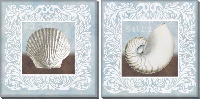 Sandy Shells Blue Set of 2