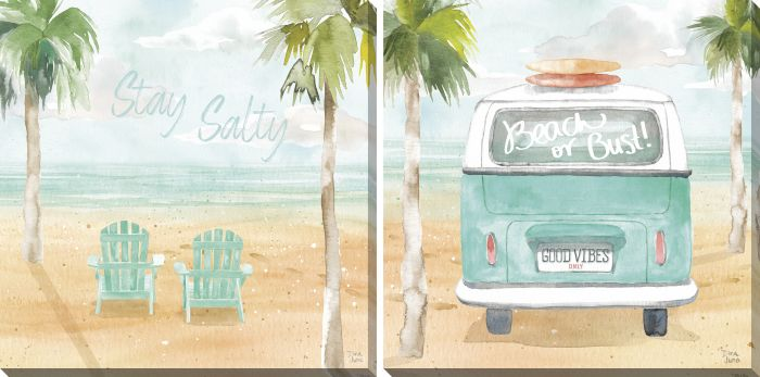 Surfs Up Set of 2