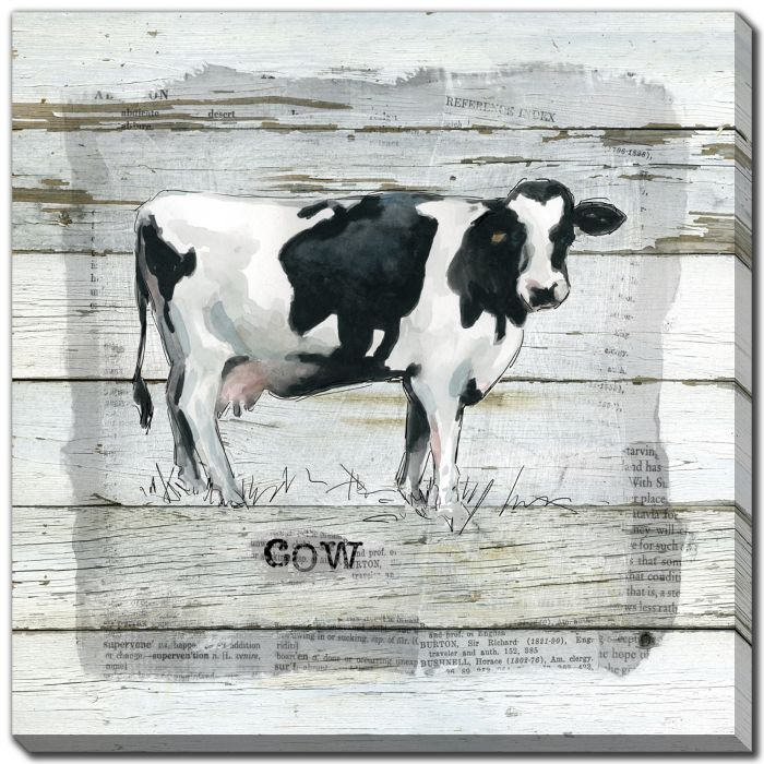 Farmhouse Collage Cow