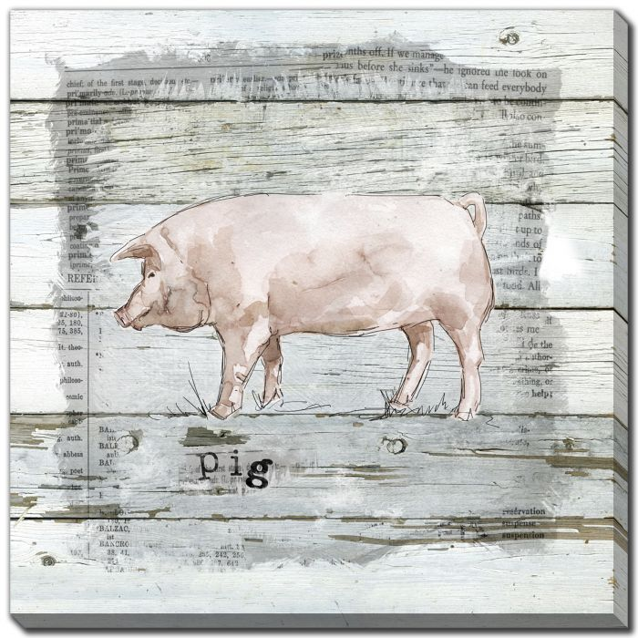 Farmhouse Collage Pig