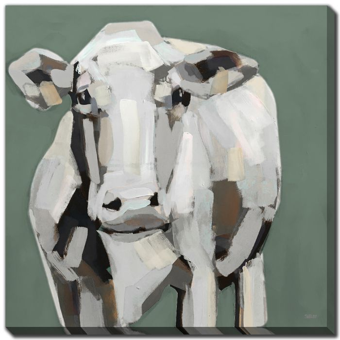 Neutral Cow on Green