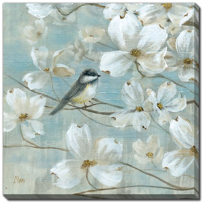 Chickadees and Dogwood I