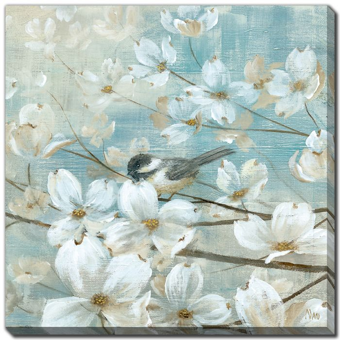 Chickadees and Dogwood II