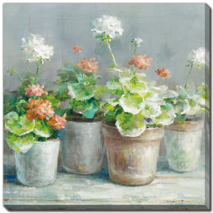 Farmhouse Geraniums I