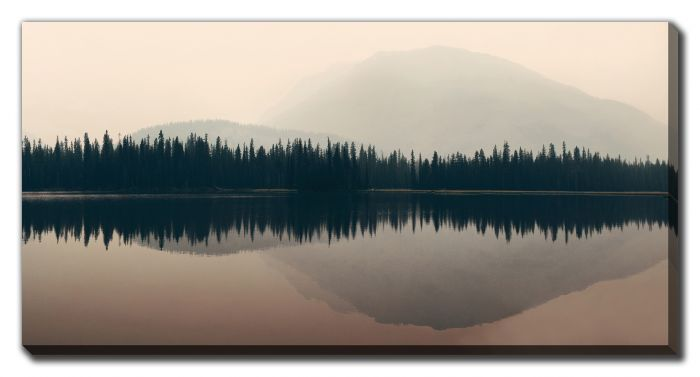 Mountain And Forest Reflections