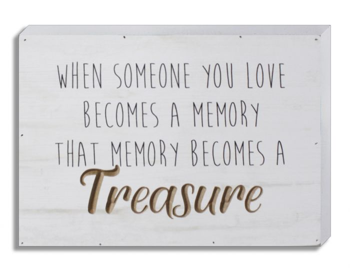Memory Becomes a Treasure