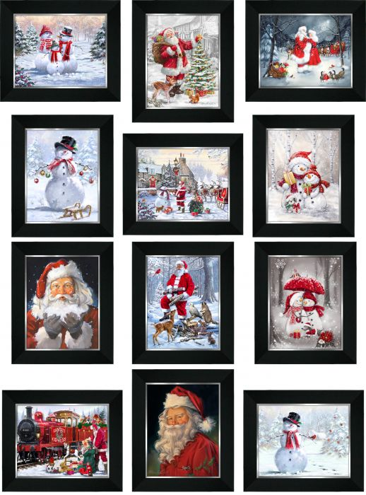 Framed Christmas Pictures 7x9 (12 Asst.)